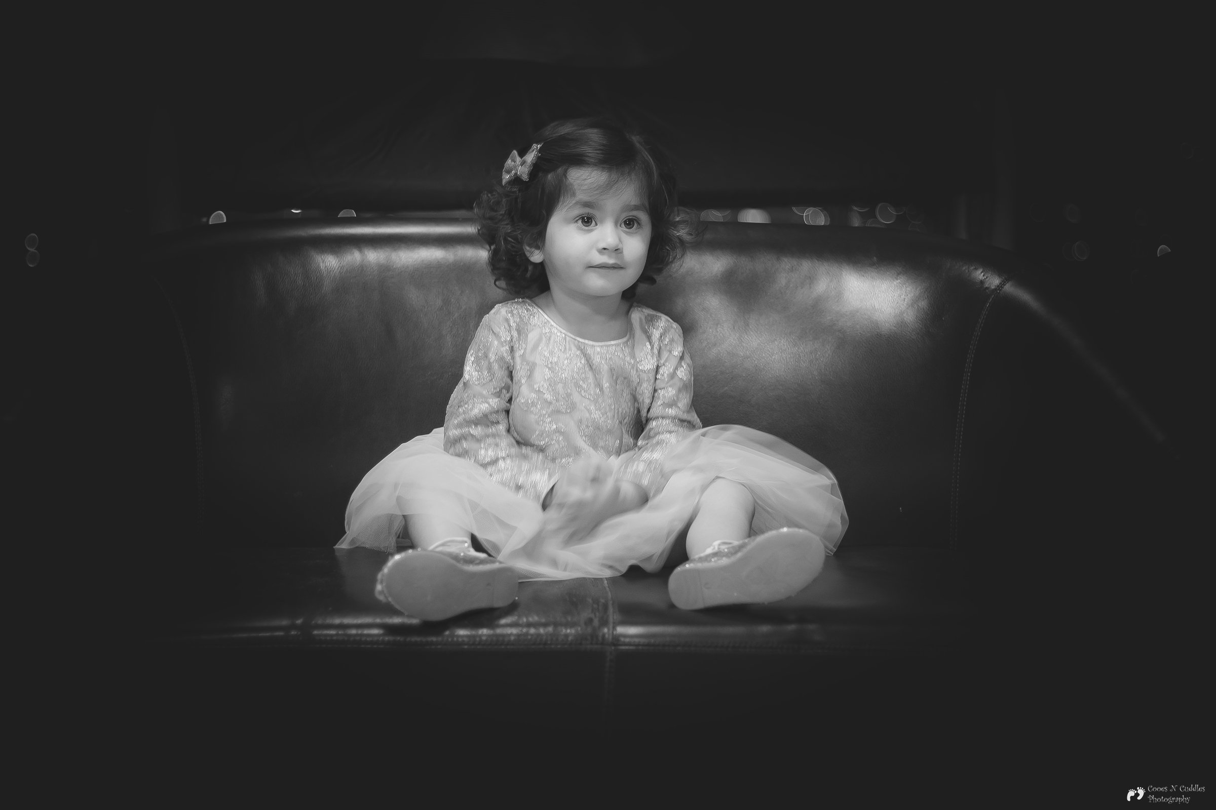 child black and white photography